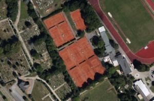 """Luftbild Tennisanlage """"An den Sportplätzen 10"""""""
